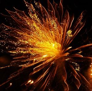 energie dégagé par un feu d'artifice