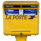 Boite au lettre jaune de la poste Francaises